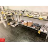 """Lot 669 - S/S Top Tables, 24"""" x 24"""", 30"""" x 36"""", and 30"""" x 72"""" Rigging Prices: 175"""