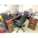Lot 779 - Desks, File Cabinets, Chairs and Office Supplies - Rigging Fee: $175