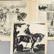 """Kriegsflugblätter Erster Weltkrieg insg. ca. 33 Blätter aus der Reihe """"Neue deutsche Bilderbögen für"""