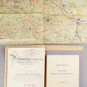 Unterlagen Militär Sachsen 1 x Verleihungsurkunde für die silberne St.-Heinrichs-Medaille,