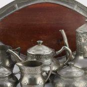 Kaffee- und Teekernstück Jugendstil Gerhardi & Co., Lüdenscheid, Modellnr. 1810, Entwurf Albert