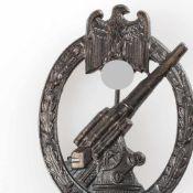 """Kampfabzeichen III. Reich Heeres-Flakabzeichen, Flak unter Adler mit Swastika im Eichenlaub, """"RZM"""""""
