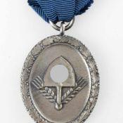 Auszeichnung III. Reich Reichsarbeitsdienst, Dienstauszeichnung für Männer, 3. Stufe in Silber, am