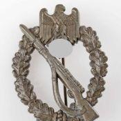 Kampfabzeichen III. Reich Infanterieabzeichen, Stufe Bronze, massive Prägung, senkrechte schmale
