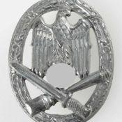 Kampfabzeichen III. Reich Allgemeines Sturmabzeichen, silberfarben, rs. schmale Nadel fehlt,