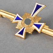 Auszeichnung III. Reich Brosche zum Ehrenkreuz der deutschen Mutter, Stufe Gold, L ca. 6,2 cm,