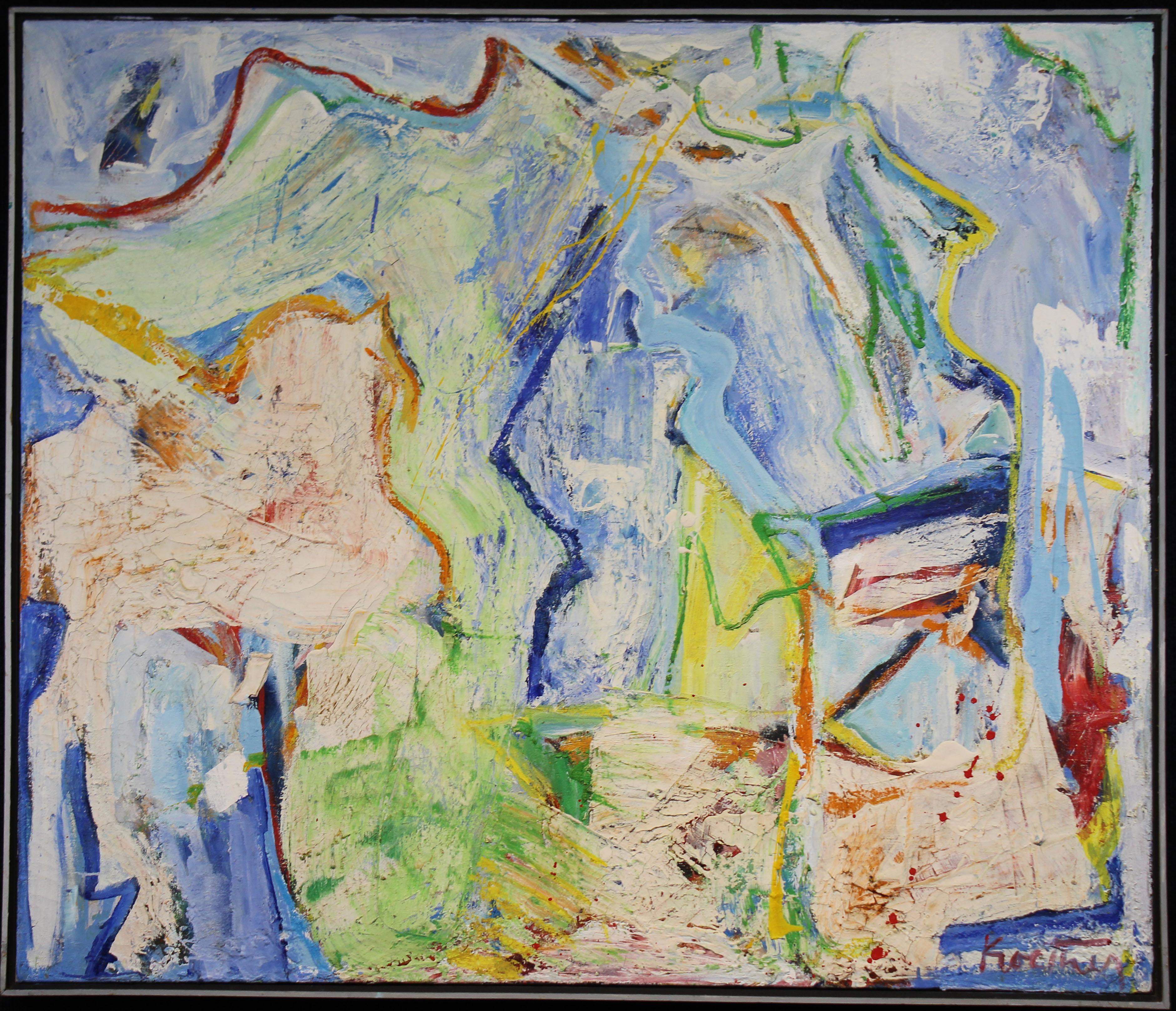 """Lot 116 - Thomas Koether (NY, FL b. 1940) """"Untitled-Lime"""""""