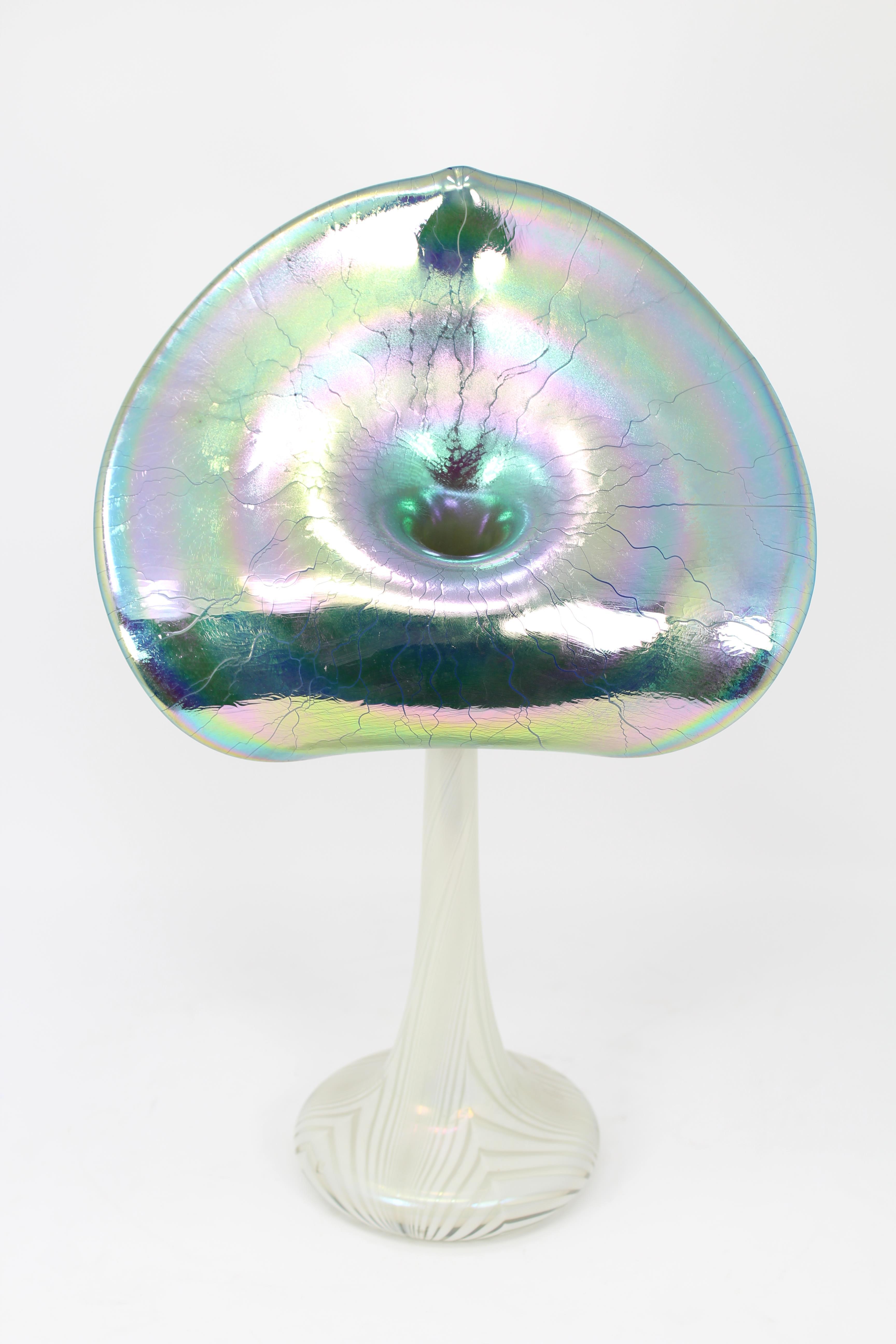 Lot 170 - Signed, Vintage Art Glass Tulip Vase