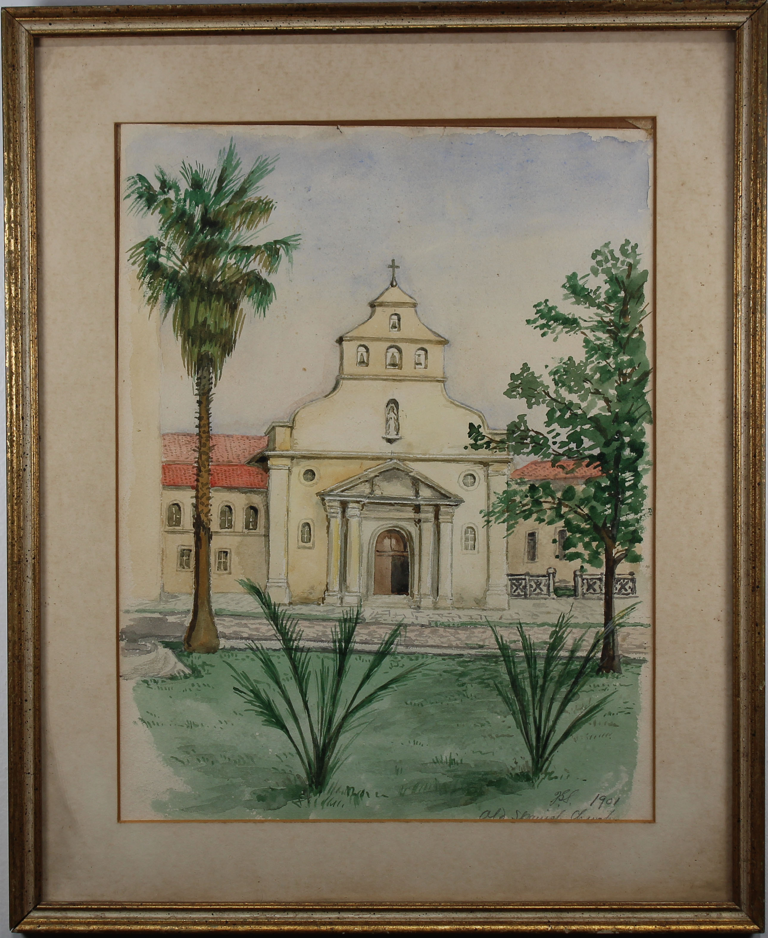 Lot 269 - Signed JSS, 1901 W/C San Rafael Mission California