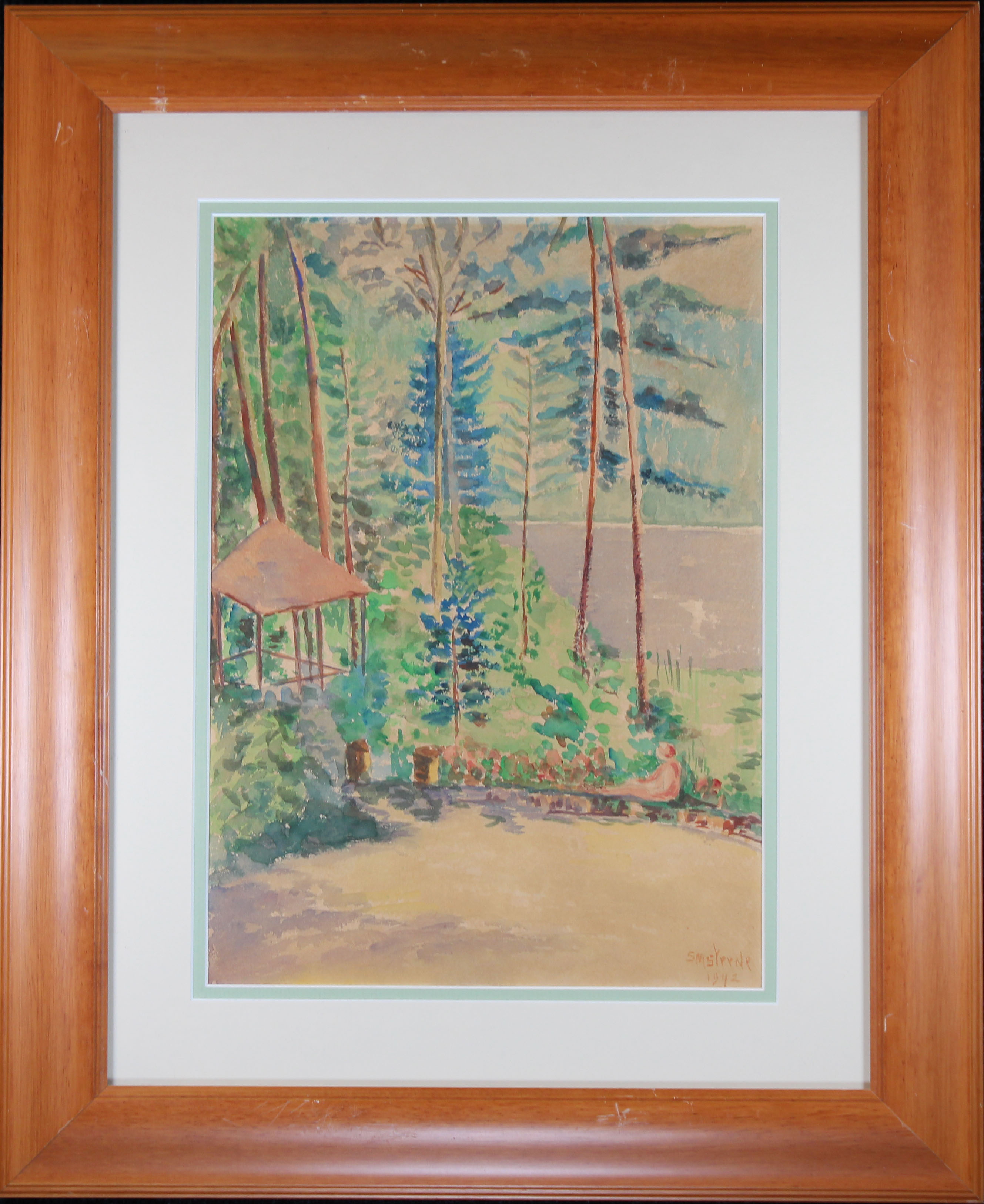 "Lot 329 - ""The Lake, East Gloucester Mass"" 1940 Watercolor"
