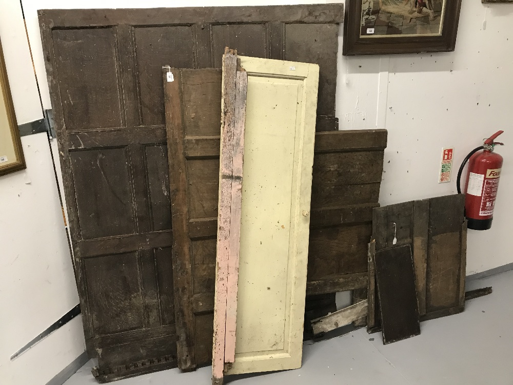 Lot 38 - Interiors: 18th cent. Oak panelling. Largest section 65ins. x 50ins. (5).