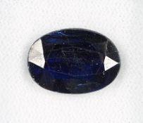 Loser Kyanit 8.41 ct , blau, oval, 14.62 x 10.40 x 5.94 mm, mit Zertifikat Schätzpreis: 540, -