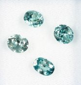 Lot 4 lose Zirkone zus. ca. 7.46 ct, oval facett., blau Schätzpreis: 480, - EURLot 4 loose