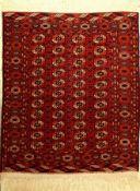 Buchara fein, Rußland, um 1930, Wolle auf Wolle, ca. 156 x 135 cm, EHZ: 2-3Fine Bochara Rug, Russia,
