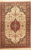 Ghom Seide (Signiert), Persien, ca. 50 Jahre, reine Naturseide, ca. 156 x 104 cm, EHZ: 2.Fine Silk