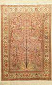 Kayseri Seide, Türkei, ca. 40 Jahre, reine Naturseide, ca. 153 x 103 cm, EHZ: 2Silk Kaisery Rug,