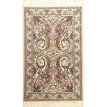 Nain fein (6 LA), Persien, ca. 15 Jahre, Korkwolle mit und auf Seide, ca. 146 x 91 cm, EHZ: 1-2 (