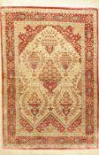 """Seiden Ghom """"Nirumand"""" fein (3x Signiert), Persien, ca. 15 Jahre alt, reine Naturseide, ca. 148 x"""