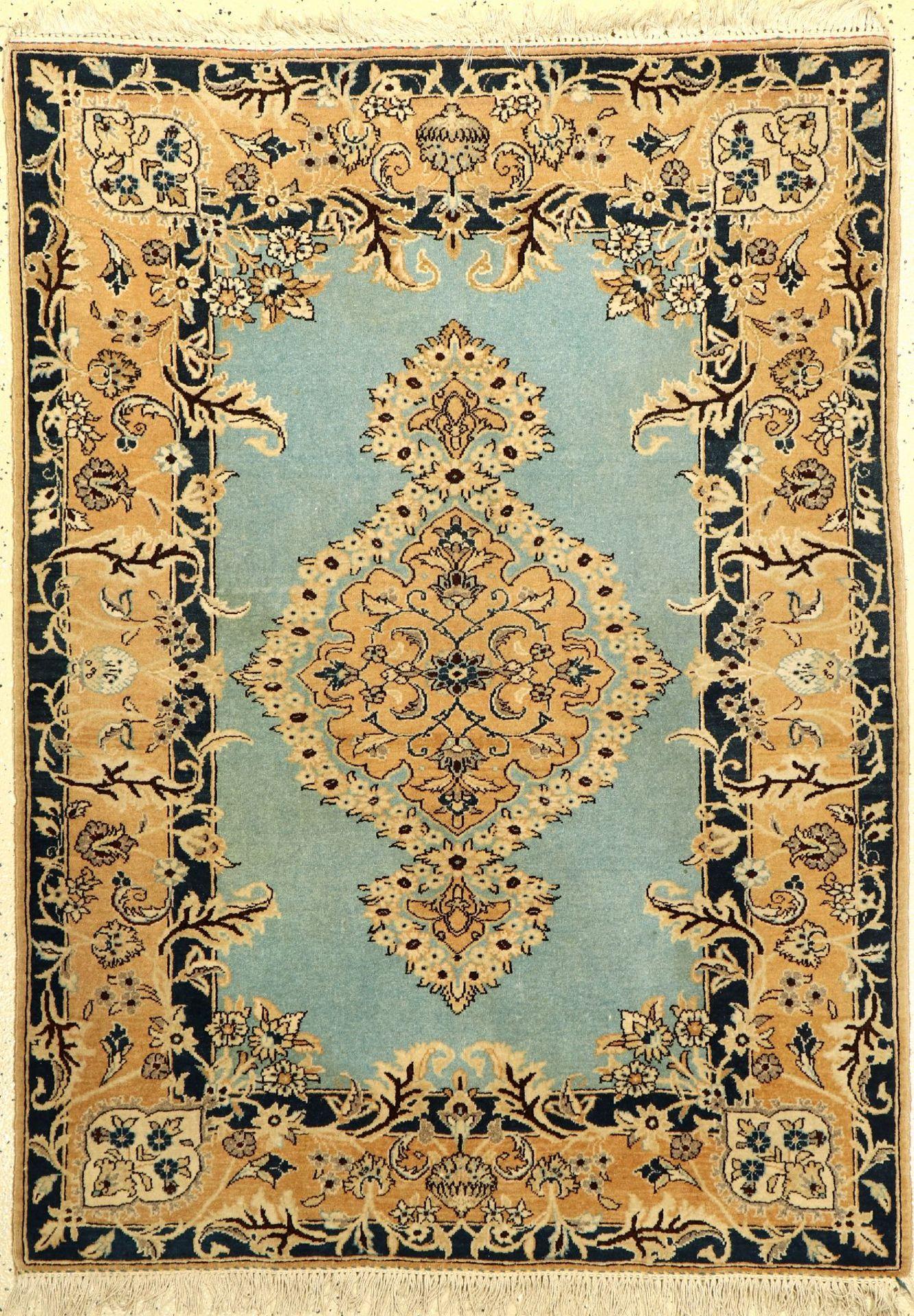 Ghom alt, Persien, ca. 50 Jahre, Wolle auf Baumwolle, ca. 148 x 107 cm, EHZ: 2-3, (verblaßt)Qum Rug,