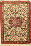 Ghom Seide, Persien, ca. 40 Jahre, reine Naturseide, ca. 83 x 59 cm, EHZ: 2Silk Qum Rug, Persia,