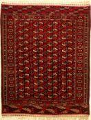 """Tekke """"Herdteppich"""" antik, Turkmenistan, um1910, Wolle auf Wolle, ca. 152 x 119 cm, EHZ: 2-3Tekke """""""
