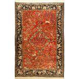 Seiden Ghom alt, Persien, ca. 40 Jahre, reine Naturseide, ca. 161 x 108 cm, EHZ: 2Silk Qum Rug,