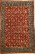 Ghom Kork fein alt, Persien, ca. 50 Jahre, Korkwolle, ca. 205 x 136 cm, EHZ: 2 (fachkundig
