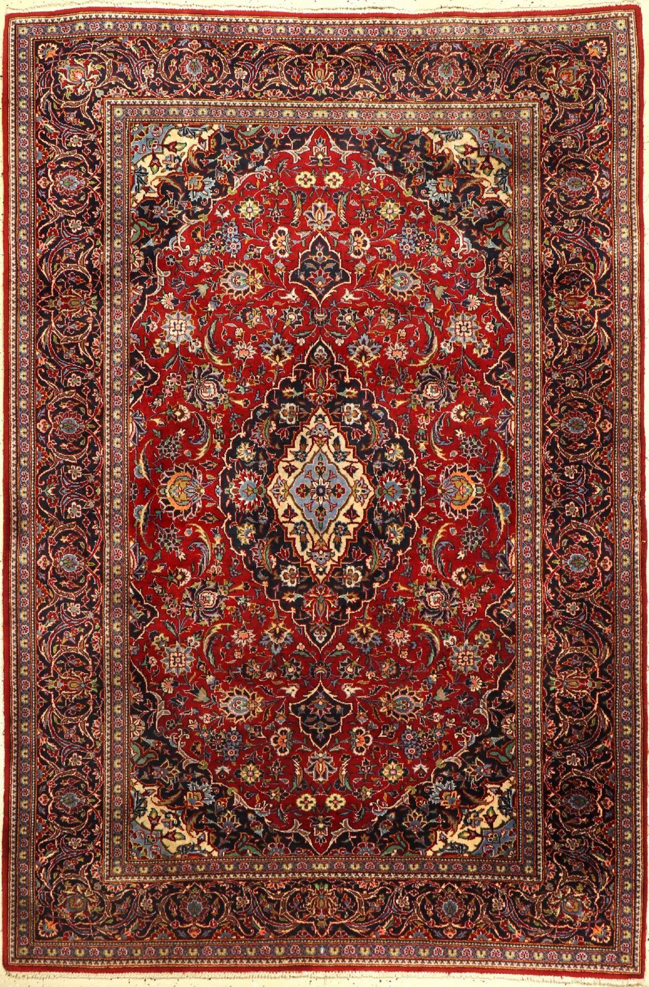 Keschan fein, Persien, ca. 40 Jahre, Korkwolle, ca. 216 x 145 cm, EHZ: 2-3Fine Kurk Kashan Rug,