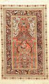 China Seide, ca. 40 Jahre, reine Naturseide, ca. 124 x 77 cm, EHZ: 2Fine Chinese Silk Rug, China,