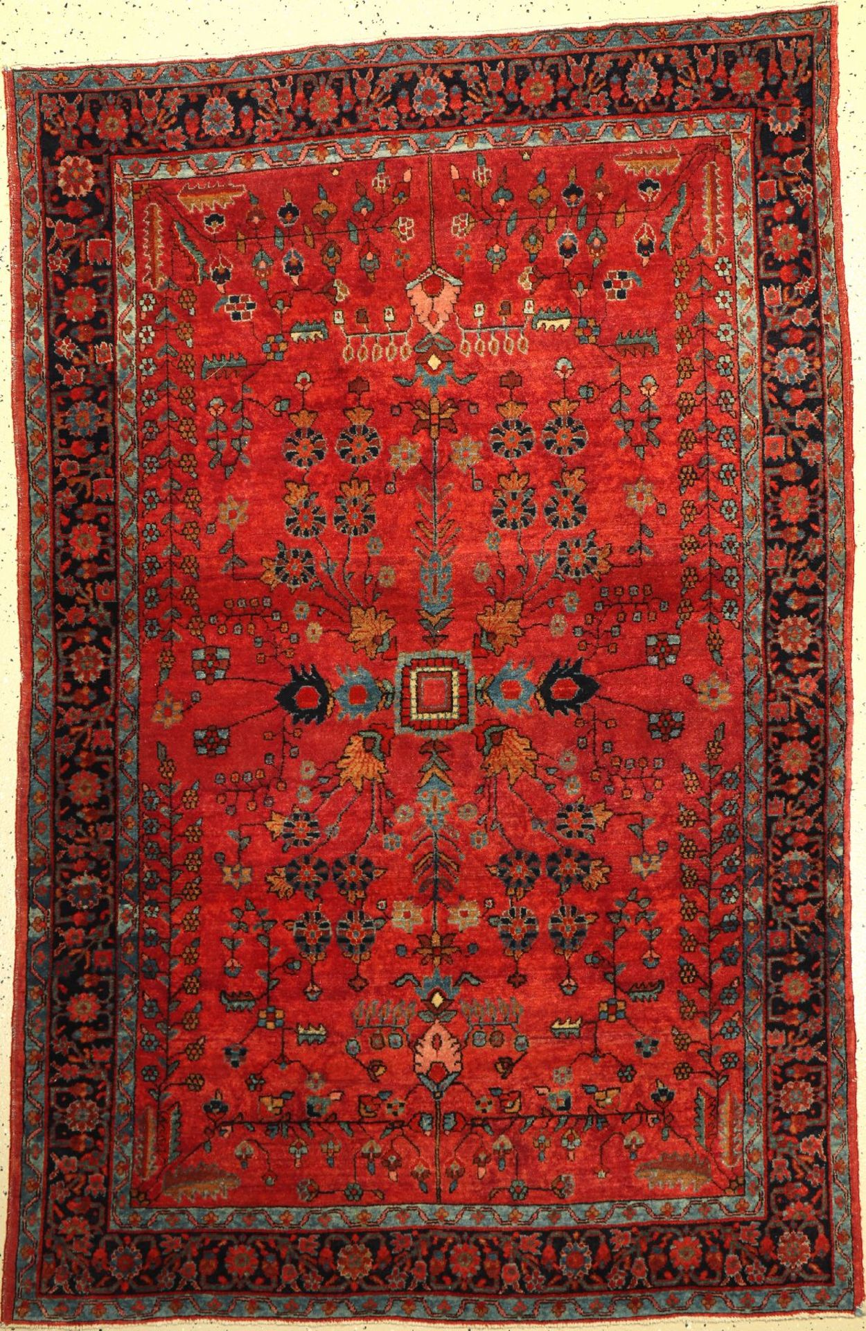 Sarogh (US Re-Import) antik, Persien, um 1910, Wolle auf Baumwolle, ca. 201 x 130 cm, EHZ: 3, (