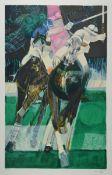 Paul Ambille, 1930 Beziers-2010 Arette, zwei Farblithografien, Golfspieler, num. 27/50, ca. 49x38cm,