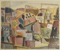 Rolf Müller-Landau, 1903-1956 Bad Bergzabern, Erinnerung an Lothringen, Aquarell auf Papier,
