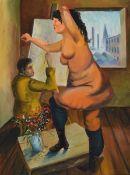 Peter Robert Keil, geb. 1942, Maler und Modell, Öl/Lwd, unsigniert, vom Künstler direkt erworben,