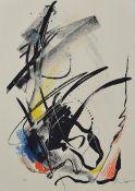 Jean Miotte, 1926-2016, Concertation 90, Farblithographie, handsigniert, bez.: e.a., ca. 29x21cmJean