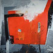 Silvia Sartelet, geb. 1947 Berlin, Abstrakte Komposition, Acryl/Lwd, sign., ca, 100x100 cmSilvia