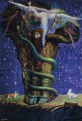 Ernst Fuchs, 1930-2015, zwei Giclee-Drucke: Adam mystikus und Judith mit dem Haupt des Holofernes,