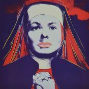Andy Warhol, 1928-1987, Portrait von Ingrid Bergmann, Konvolut aus sechs Farboffsets nach dem