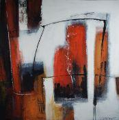 Silvia Sartelet, geb. 1947 Berlin, Abstrakte Komposition, Acryl/Lwd, sign., ca. 91x90 cmSilvia