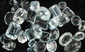 Lot lose Aquamarine, zus. ca. 31.44 ct, in versch. Formen, Farben und Größen Schätzpreis: 800, -