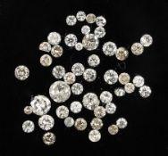 Lot lose Diamanten zus. 3.09 ct, z.T. mit PlatzernLot loose diamonds total 3.09 ct, partly with