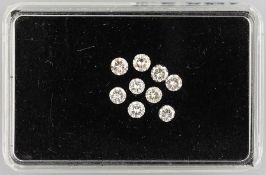 9 lose Brillanten zus. 1.59 ct l.get.Weiß -get.Weiß/vs-si9 loose brilliants total 1.59 ct Crystal-