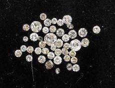 Lot lose Diamanten zus. 3.15 ct, z.T. mit PlatzernLot loose diamonds total 3.15 ct , partly with
