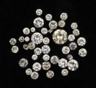 Lot lose Diamanten zus. 3.0 ct, z.T. mit PlatzernLot loose diamonds total 3.0 ct, partly with