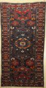 Kuba Shirvan, Kaukasus, um 1920/30, Wolle auf Wolle, ca. 251 x 128 cm, EHZ: 3Kuba Shirvan Rug,