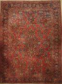 Sarogh US-Re Import, Persien, um 1900, Wolle auf Baumwolle, ca. 417 x 306 cm, EHZ: 2-3Saruk US