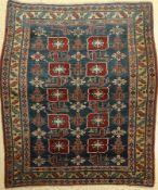 Erivan fein (Karagashli), Rußland, um 1950,Wolle auf Wolle, ca. 167 x 147 cm, feine Knüpfung, EHZ: