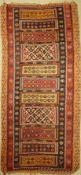 Anatolischer Kelim alt, Türkei, Corum-Cankiri, um 1920/1930, Wolle auf Wolle, ca. 345 x 160 cm, EHZ: