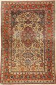 "Esfahan ""Shooreshi"" alt, Persien, um 1920, Korkwolle auf Baumwolle, ca. 211 x 138 cm, EHZ: 5 ("