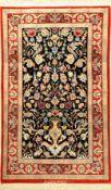 "Esfahan ""Olia"" fein (Signiert) ""Paradise-Vase Design"", Persien, ca. 20 Jahre alt, Korkwolle mit"