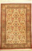 Seiden Ghom fein, Persien, ca. 20 Jahre, reine Naturseide, ca. 156 x 106 cm, EHZ: 2Silk Qum Rug,